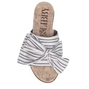 NEW Sam & Libby Women's Bow Striped Sandals Sz 6